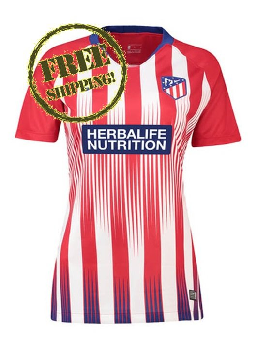 Custom Atletico Madrid Jersey 2018 2019 Women Football Home Soccer Shirt Red