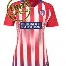 Custom Atletico Madrid Jersey 2018 2019 Women Football Home Soccer Shirt Red