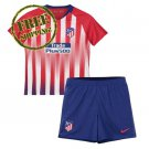Kids Jersey Atletico Madrid 18/19 Custom Home Football Soccer Shirt Red Set