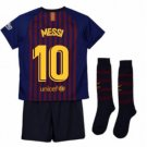 2018-2019 FC Barcelona Home Kids (Messi 10) socks, shorts