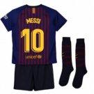 2018-2019 FC Barcelona Home Kids (Messi 10) socks, shorts
