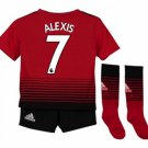 Man Utd Home Kids (Alexis 7) socks, shorts 2018-2019