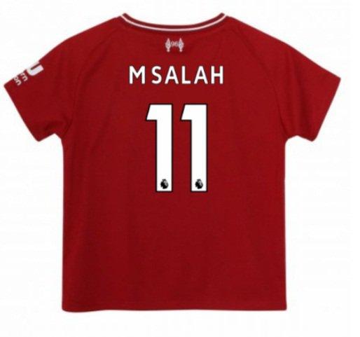 M. SALAH #11 Kids Soccer 2018-2019 Men Liverpool home Jersey red