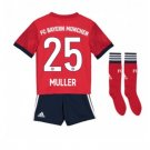 Bayern Munich Muller #25 Kids Soccer Full Kit 2018-2019 home Jersey