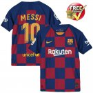 Lionel Messi Royal Barcelona 2019/20 Home Breathe Stadium Replica Jersey