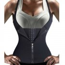 Corset Back Shoulder Strap Waist Trainer Slimming Belt Women Zipper Hook Body