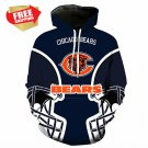New   Chicago Bears Football Team Sport Hoodie With Hat