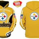 New Pittsburgh Steelers NFL Football Hoodie Sweater Pullover Fan's Edition