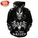 Horror  Raiders Nation Football Team Sport Hoodie With Hat