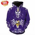 Horror  Minnesota Vikings Football Team Sport Hoodie With Hat