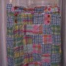 Jennifer & Grace Women's Patch Work Pastel Color Skirt Sz 8 100% Cotton NWWT