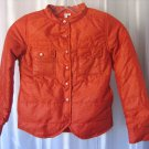 Gingham By Sovereign Code Girl's Orange Animal Print Puffy Jacket Sz XS NWWT
