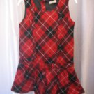 Place 89 Toddler Girl's Red/Black/White Plaid Sleeveless Dress Sz 4T Pre-Owned