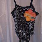 Infant Girl's Blue/Grey/White Anchor One Piece Swim/Bathing Suit Sz 18-24M NWWT