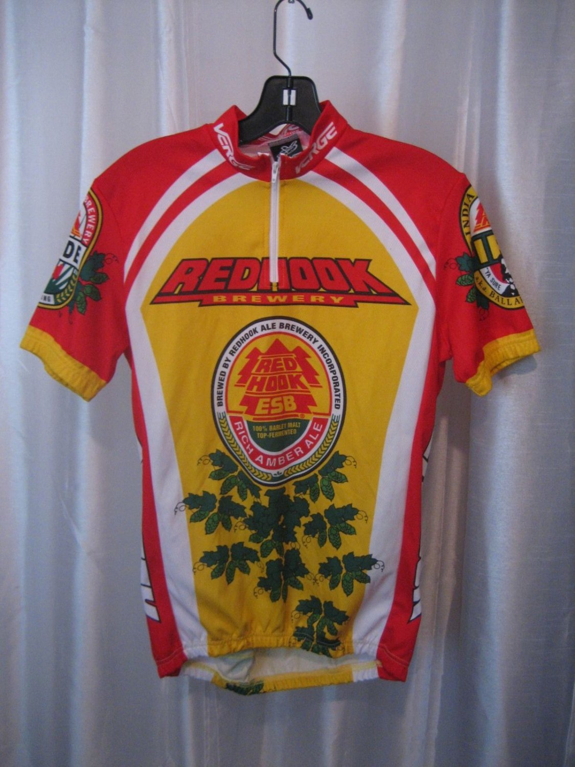 Verge Feel the Urge Men's Red Hook Brewery Bike/Cycling Jersey Sz S Pre-Owned
