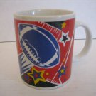 Football & Stars Red/White/Blue/Yellow/Black Ceramic Coffee Mug/Cup New