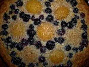 Peach and Blueberry Cream Pie