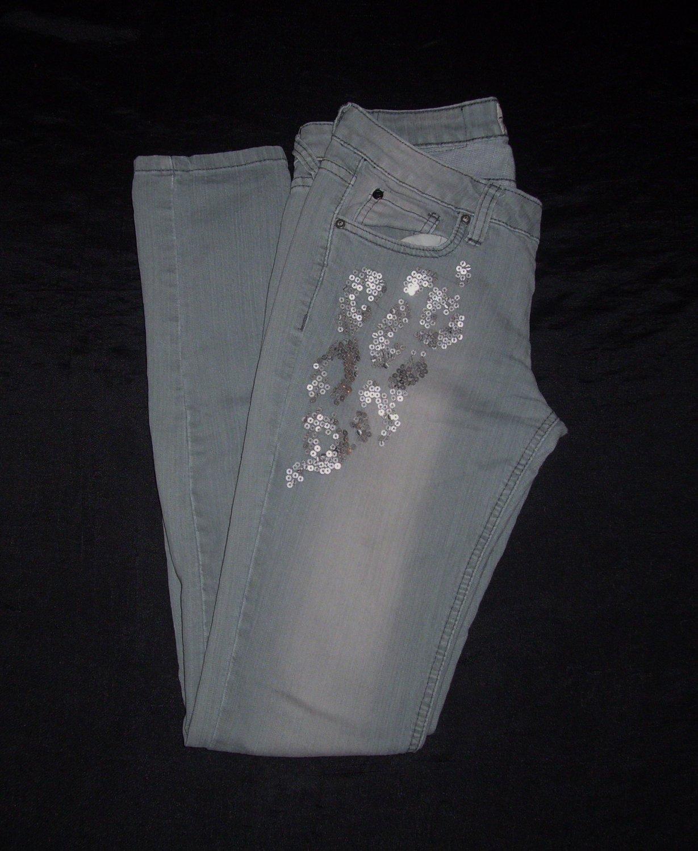 Girl's Revolution Revolt Light Blue Grayish Jeans- Size 3