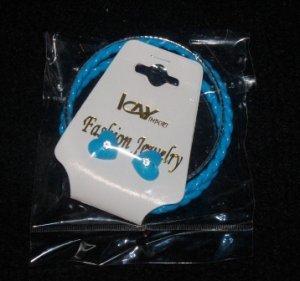 Icay Blue Heart Earrings & Bracelet Set