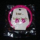 Icay Pink Heart Earrings & Bracelet Set