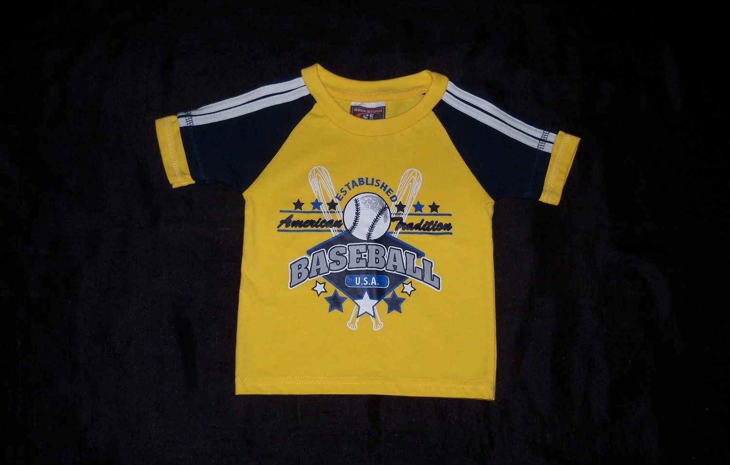 Urban Extreme Yellow and Navy Baseball Outfit- Size 18 months