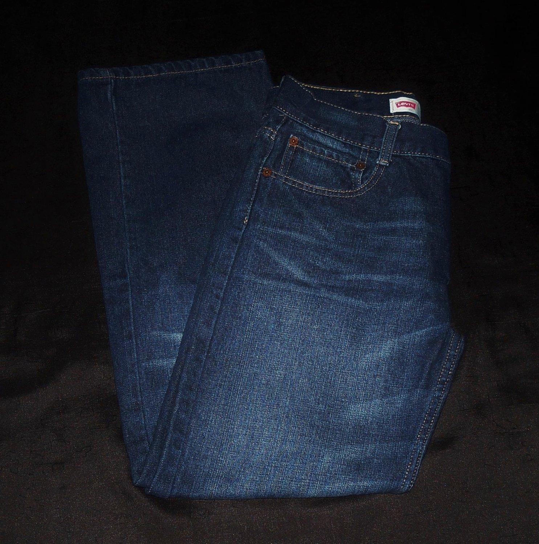 Levis Straight Blue Jeans- Size 18