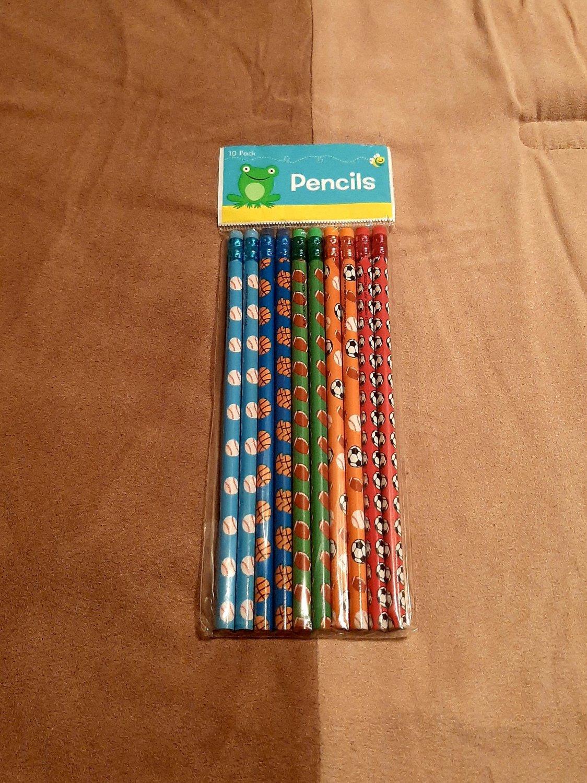 Sports Pencils- 10 pk