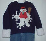 Custom Appliqued Snowman  shirt