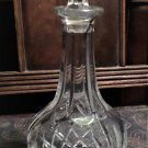 Exquisite Lead Crystal Cut Glass Wine Decantur with Top. Like new.