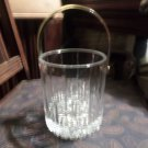 Elegant Lead Crystal Cut Ice Bucket with Steel Handle like new