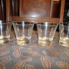 4 Crown Royal embossed bottom Whiskey Bourbon glasses
