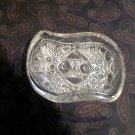 Pressed clear glass mid century nut dish
