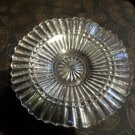 Scalloped pressed clear glass nut dish plate