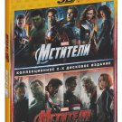 The Avengers/ Avengers: Age of Ultron (Blu-ray 3D, 2-disc set) English,Russian