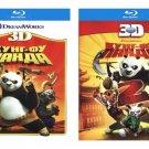 Kung Fu Panda 1 & 2 (Blu-ray 3D, 2-Disc Set) Eng,Rus,Czech,Danish,Greek,Polish