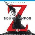 World War Z (Blu-ray 3D+2D, 2013, 2-Disc Set) Eng,Rus,Czech,Hungarian,Polish