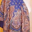1077-13 PAVLOVO POSAD SHAWL 100%WOOL DRESS WRAP HAT RUSSIAN SCARF WARM CAPE 89cm