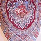797-4 WOMEN'S PAVLOVO POSAD SHAWL 100% WOOL DRESS WRAP 89cm RUSSIAN SCARF WARM