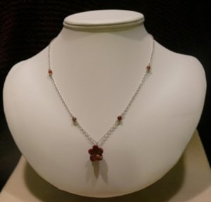 Dainty Brown Flower Chain Necklace