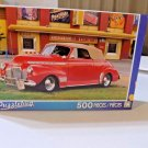 500 pc  JIGSAW PUZZLE 1941 RED CHEVY CONVERTIBLE SPECIAL DELUXE / CASINO 8 x 11
