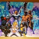 X-Men Cyclops Wolverine Storm Havok Marvel Comics Poster by Greg Land