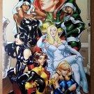 X-Men women 500 Rogue Emma Frost Psylocke Dazzler Storm Poster by Terry Dodson