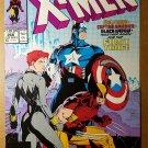 Uncanny X-Men 268 Captain America Black Widow Marvel Comics Poster by Jim Lee