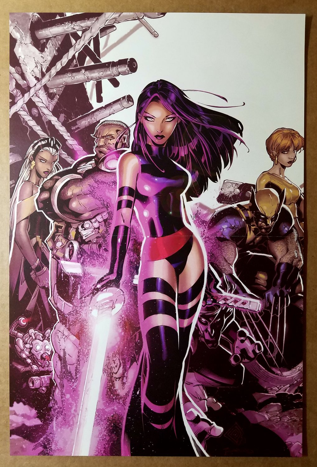 Uncanny X-Men 467 Psylocke Strom Wolverine Marvel Comics Poster by Chris Bachalo