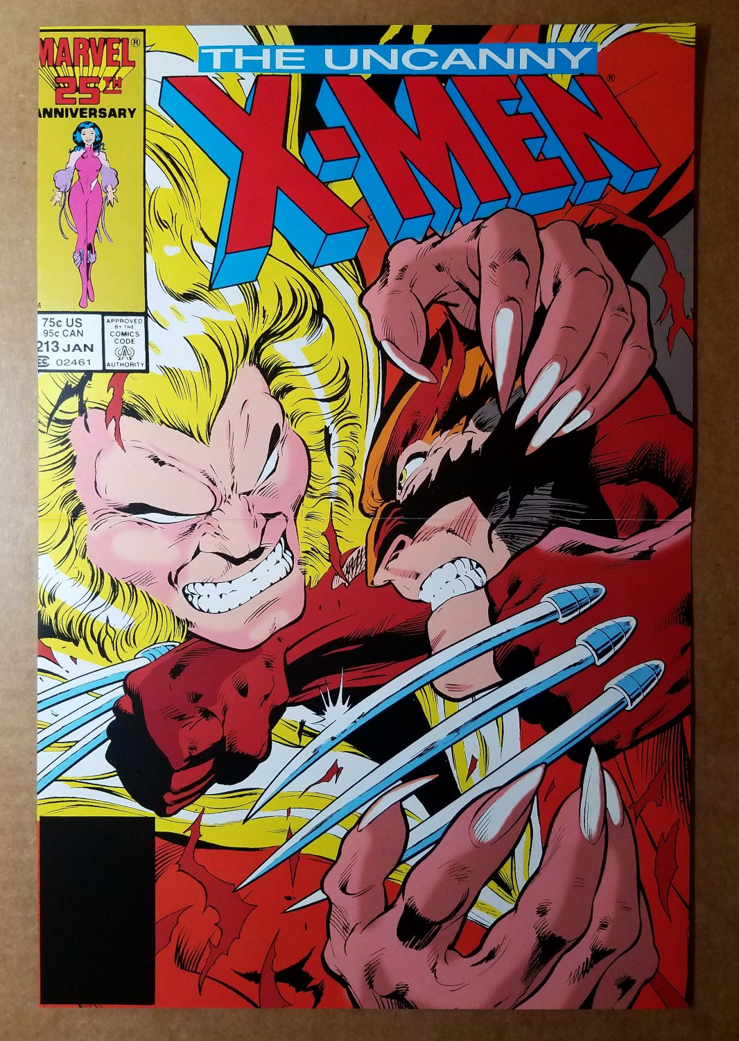 Uncanny X-Men 213 Wolverine Vs Sabretooth Marvel Comics Poster by Alan Davis