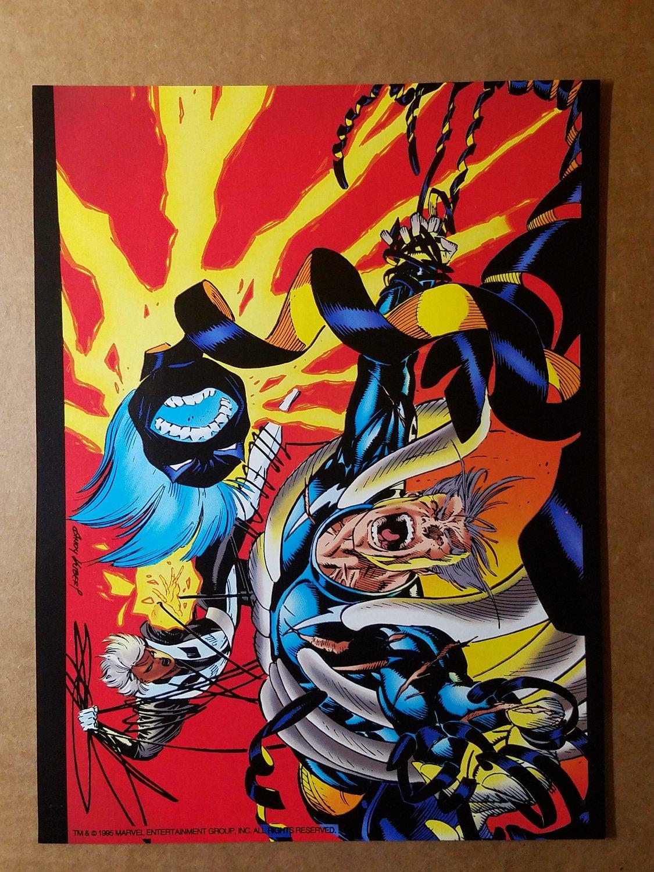 Storm Quick Silver X-Men Marvel Comics Mini Poster by Andy Kubert