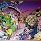 X-Men Gambit Banshee White Queen Sabretooth Wolverine Poster by Joe Madureira