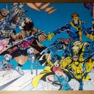 X-Men Cable Gambit Jubilee Wolverine Psylocke Marvel Poster by Richard Bennett