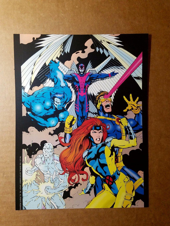 Jean Gray Archangel Iceman Beast X-Men Marvel Comics Mini Poster by Gary Frank