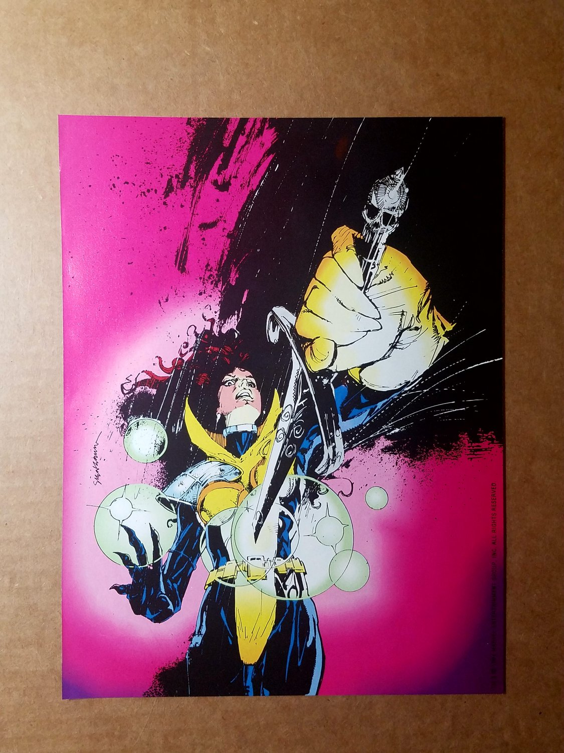 X Universe X-Men Marvel Comics Mini Poster by Bill Sienkiewicz